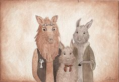 Boar family Gouache, Illustrations, Illustration, Character Illustration, Illustrators, Drawings