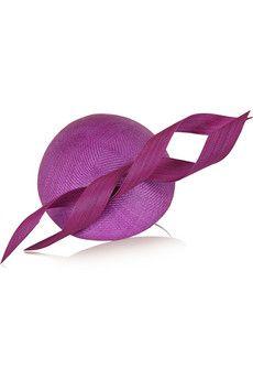 Philip Treacy Buntal scroll-embellished parasisal hat | NET-A-PORTER