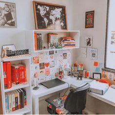 Study Room Decor, Study Room Design, Room Design Bedroom, Study Rooms, Room Ideas Bedroom, Home Room Design, Home Design Decor, Bedroom Decor, Study Desk