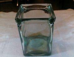 OLD VINTAGE / ANTIQUE EXIDE BATTERY GLASS JAR - UNMARKED