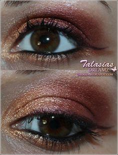 Red Bronze Eye Make Up - Datum: 07.04.2012  http://talasia.blogspot.de/2012/04/tag-kleines-lidschatten-1x1-rot-bronze.html