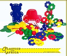 These threading beads and shapes #toys for children not only develop hand eye-coordination, but also provide hours of fun for little fingers. Now available from your nearest #PlasticsforAfrica branch.
