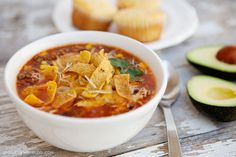 This quick and easy taco soup recipe is a favorite in our family! Perfect for warming up on a cold day, this soup is easy to prepare with ingredients you can keep on hand for those times when you need dinner in a pinch!