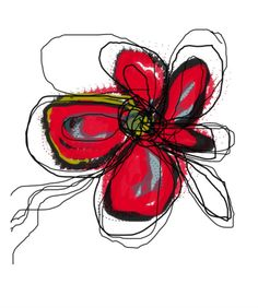Red Butterfly Flower Photographic Print by Jan Weiss at Art.com