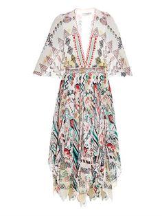 Prairie-print handkerchief dress by Etro