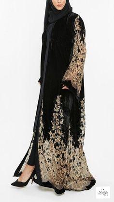 image of ready to dispatch husna noir abaya