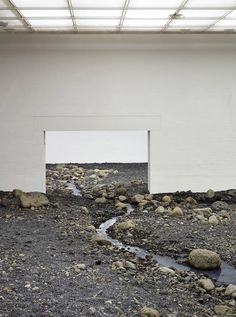 Olafur Eliasson Creates a Riverbed in a Museum