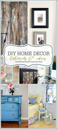 Get your hands dirty and splash some bright color onto your home accessories with this full list of easy DIY home decor crafts you can make this weekend!