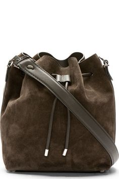 d935f3dc90e7 Proenza Schouler Pepe Brown Suede Medium Bucket Bag