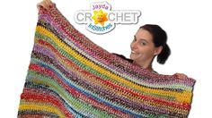 It's the Ultimate Odd-Ball, Stash-Buster Project!  Grab a big hook, all your left over yarn and Let's Stitch Up A Blanket Together! * Granny Square Tutorial:   ...  * Visit our Website! -  ...   * Etsy Shop. Crochet, Crochê, Blanket, Easy,