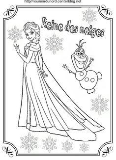 Coloriages et activités de la Reine Des Neiges (Disney - Frozen) | נסיכות princess | Pinterest ...