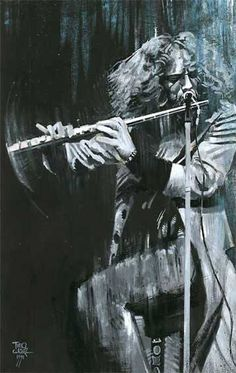 Awesome painting of Ian Anderson of Jethro Tull! Art Music, Music Artists, Punk, Jethro Tull Aqualung, Heavy Metal, Indie, Live Rock, Progressive Rock, Rock Legends