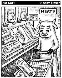 Saw this today. Really makes you think Why Vegan, Vegan Vegetarian, Vegetarian Quotes, Vegan Food, Recent Political Cartoons, Vegan Quotes, Vegan Humor, Cat Whiskers, Humor Grafico