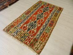 "Pale Color Turkish Kilim Rug 3'3"" x 5'9"" Handmade Kilim Rug Bohemian Kilim Rug Decorative Kilim Rug Turkey Kilim Rug Home Decor Kilim Rug"