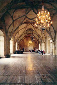 Vladislav hall of Prague Castle  Built during the 15th century