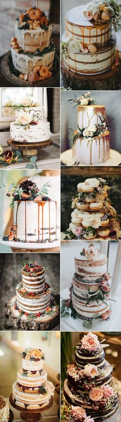 20 Delicious Fall Wedding Cakes that WOW Wedding iDeas, Wedding Decorations, Winter Wedding Trendy Wedding, Perfect Wedding, Our Wedding, Dream Wedding, Wedding Ring, Wedding Bands, Wedding Flowers, Fall Wedding Cakes, Autumn Wedding