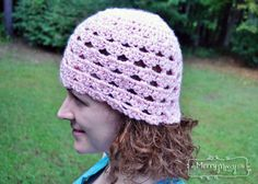 Crochet Iced Shell Beanie - Sweet and Pretty for Any Age Lady - Free Pattern