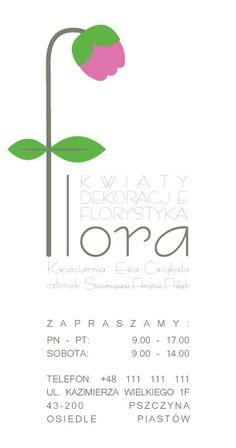 Flower Shop business cards by Anna Dyczka, via Behance