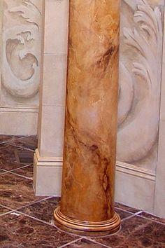 Arteriors Faux Marble Columns - traditional - Spaces - Boston - Arteriors Designer Finishes