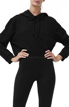 a6786e7b6b7 GOOD AMERICAN Designer Crop Hoodie Jogging, Plus Size Activewear, Women's  Activewear, Womens Clothing