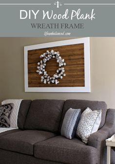 DIY Wood Plank Wreath Frame- Farmhouse Style Wreath Frame