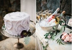 Ask us about our silver footed cake stands and silver punch bowls---great for chilling champagne!