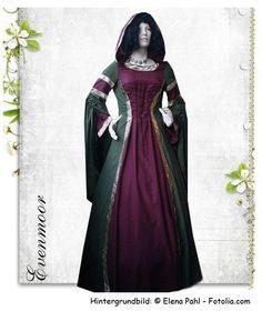 "MittelalterKleid ""Luna"" Kapuzenkleid..."
