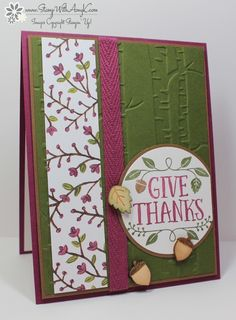 August 15, 2015 Stampin' Up! Thankful Forest Friends - Stamp With Amy K;   Woodland EF, Into the Woods DSP, Into the Woods Elements