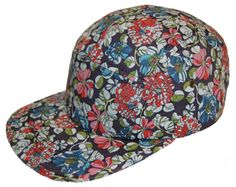 a66d4d7c907a6 5 Panel Camp Cap Hat Floral Pattern Print Blue Strap Supreme Style Price    16.99   FREE Shipping on orders over  35