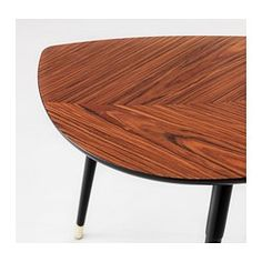IKEA - LÖVBACKEN, Side table, , The distinctive grain pattern in the poplar veneer gives each table a unique character.The veneered surface is durable, stain resistant and easy to keep clean.The table can be moved across the floor without worry because the plastic feet protect against scratching.