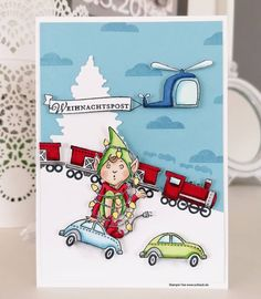 Stampin Up Christmas, Christmas Holidays, Christmas Cards, Elf, Move Along, Kids Cards, Winter, Toys, Snoopy