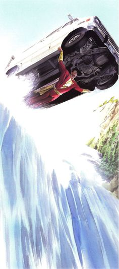 Captain Marvel by Alex Ross.  Correction to previous note by someone else:  Shazam by Alex Ross.