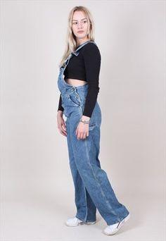Dungarees, Mom Jeans, Pants, Fashion, Trouser Pants, Moda, Trousers, Fashion Styles, Women Pants