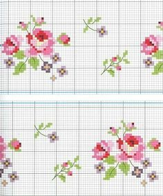 cross stitch chart (sweet roses)..
