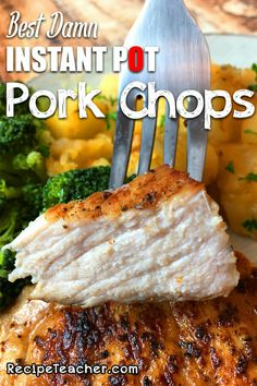 Instant Pot pork chops that are tender, juicy and seasoned with an unbelievable combination of simple and awesome ingredients. Instant Pot Pressure Cooker, Pressure Cooker Recipes, Pressure Cooking, Pork Chop Recipes, Crockpot Recipes, Ninja Recipes, Pork Chops Instant Pot Recipe, Real Food Recipes, Cooking Recipes
