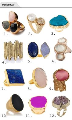 The Vault Files: Obsession File: Rings Jewelry Rings, Jewelery, Silver Jewelry, Jewelry Accessories, The Bling Ring, Ring My Bell, Big Rings, Love Ring, Statement Jewelry
