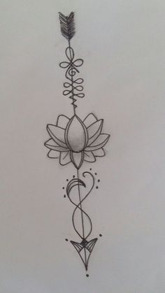 Pin by Eternity is now On Arrow Tattoo Designs Ideas In Lotus Tattoo Design, Henna Tattoo Designs, Arrow Tattoo Design, Lotus Design, Tattoo Ideas, Arrow Design, Diy Tattoo, Tattoo Ink, Spine Tattoos