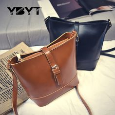 44% off  YBYT brand 2017 new PU leather women retro casual small bag 02527f150c273