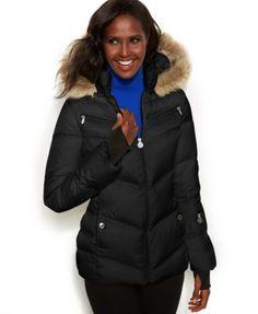 Nautica Faux-Fur Hooded Puffer Coat