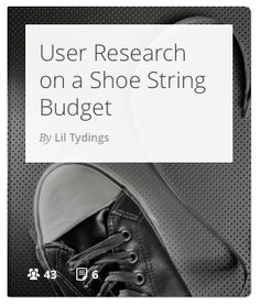 How to do user research on a small to none budget. #interviews