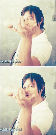 Norman Reedus - Daryl Dixon// He lived in Japan, ugh. Perf