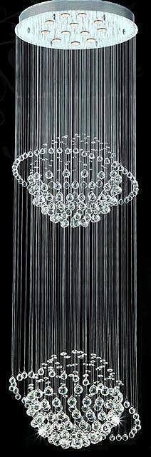 Crystal Chandelier by Shimmer Lighting Foyer Chandelier, Chandelier Pendant Lights, Crystal Chandeliers, Chandeliers Modern, Chandelier Ideas, Modern Foyer, Contemporary Chandelier, Contemporary Style, Shimmer Lights