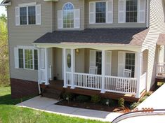 porch posts and columns | Front Porch Six inch Square Post and Model Rails with Custom Arch Tops ...