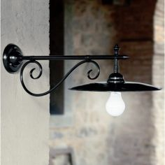 Wandlampe aus verzinktem Eisen Valzer von Aldo Bernardi Viadurini.de