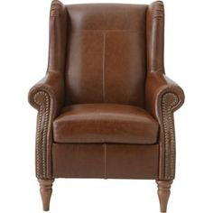 Buy Argos Home Argyll Studded Leather Chair - Tan Black Armchair, Modern Armchair, Restoration Hardware Dining Chairs, Toddler Table And Chairs, Bedroom Seating, Furniture Care, High Back Chairs, Lodge Decor, Studded Leather