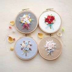 No photo description available. Baby Embroidery, Embroidery Works, Creative Embroidery, Hardanger Embroidery, Silk Ribbon Embroidery, Cross Stitch Embroidery, Embroidery Patterns, Contemporary Embroidery, Modern Embroidery