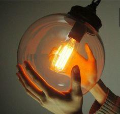 Vintage Industrial DIY Ball Shape Glass Ceiling Pendant Lamp Lighting Edison NEW