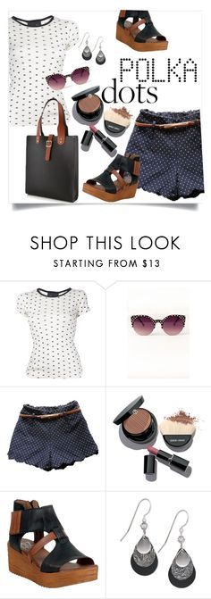 """""""Casual Polka Dots"""" by clotheshawg ❤ liked on Polyvore featuring Edith A. Miller, Giorgio Armani, Miz Mooz and Silver Forest"""