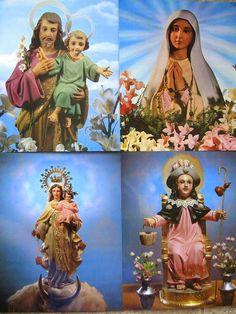 Set of 4 Catholic Kitsch Art Prints on Heavy by blackforestrose, $9.00