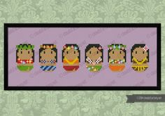 Cute Hula Dancers PDF cross stich pattern by cloudsfactory